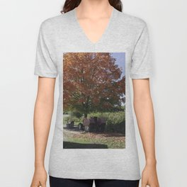 Fall time at the farm Unisex V-Neck