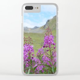 Hatcher Pass Fireweed Clear iPhone Case