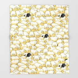 Find The Spy Pattern Throw Blanket