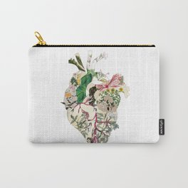 Vintage Botanical Heart Carry-All Pouch