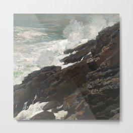 Rocky Shore Painting Circa 1894 Metal Print
