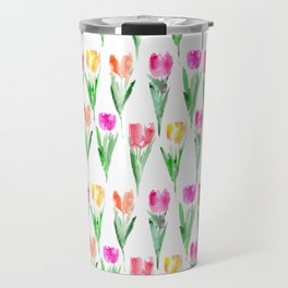 Watercolor tulips from Holland Travel Mug
