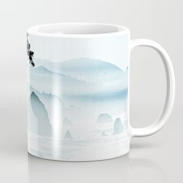 Misty Canon Beach Scenic from Ecola State Park Coffee Mug