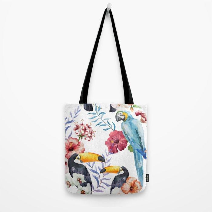 Tropical Bird Pattern 01 Tote Bag