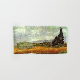 Vincent van Gogh's Wheat Field with Cypresses Hand & Bath Towel
