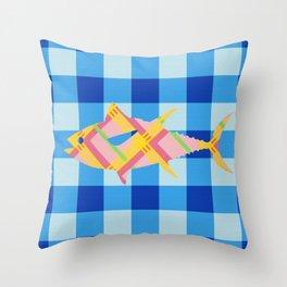 FISH STRIPES Throw Pillow