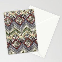 beaded chevron pearl Stationery Cards