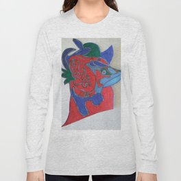 Red horse abstract modern paitings by Christian T. Long Sleeve T-shirt