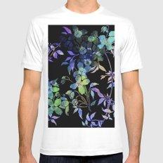 garland of flowers black version Mens Fitted Tee White MEDIUM