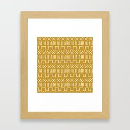 Mustard Mud Cloth Framed Art Print