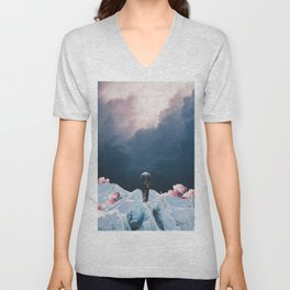 The Path to Solitude is full of Winter Roses Unisex V-Neck
