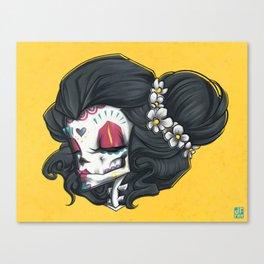 Madame Muerte PAINT Canvas Print