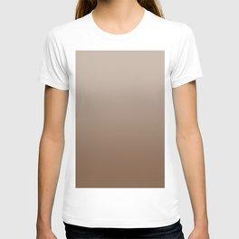 Pastel Brown to Brown Horizontal Linear Gradient T-shirt
