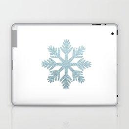 Blue Glitter Snowflake Laptop & iPad Skin