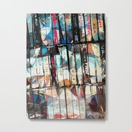 Musical Cassette Tapes Collage Metal Print