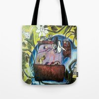 perfume Tote Bags featuring Perfume by Carol Love