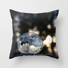 Frozen Bubble Throw Pillow