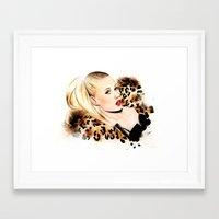 iggy azalea Framed Art Prints featuring Iggy Azalea NYLON  by Tiko Meow