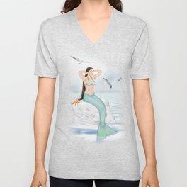 Seaside Mermaid Unisex V-Neck