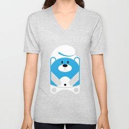 Bear Smurf Unisex V-Neck