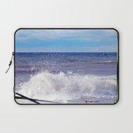 Wave Crashing onto the Beach Laptop Sleeve