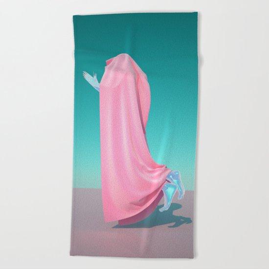 Pink Velvet Beach Towel