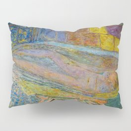 Meditation in the Bath with Mrs. Bonnard & Dachshund Pup Alfred von Wigglebottom by Pierre Bonnard Pillow Sham