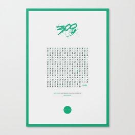 300 Spartan Spoiler Poster Canvas Print