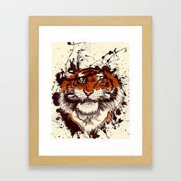 TigARRGH (Maroon and Orange) Framed Art Print