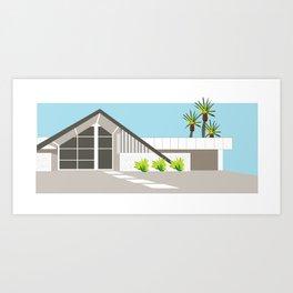 Mid Century Modern Palm Springs House 3 Art Print