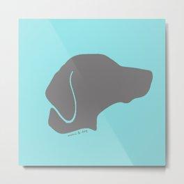 VIZSLA GREY ON BABY BLUE Metal Print