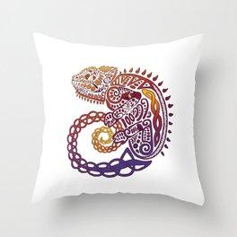 Celtic Chameleon Throw Pillow
