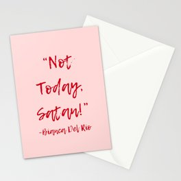 Not Today Satan Art Print Stationery Cards