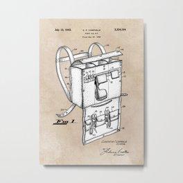 patent art Campiglia First Aid kit 1942 Metal Print