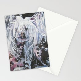 Chinese Crested Dog portrait art from an original painting by L.A.Shepard Stationery Cards
