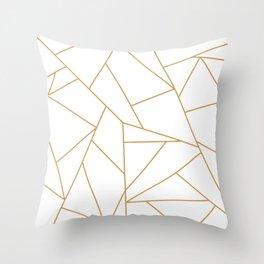 Geometric Gold Hexagon Pattern Throw Pillow