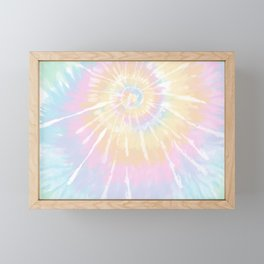 Rainbow Tie-Dye Pastel Framed Mini Art Print