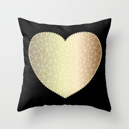 Low poly heart 1 Throw Pillow
