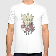 hands! print Mens Fitted Tee White MEDIUM