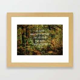 Walk with nature Framed Art Print