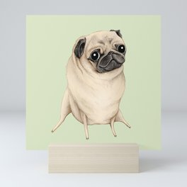 Sweet Fawn Pug Mini Art Print