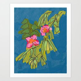 Flowers on Captiva Art Print