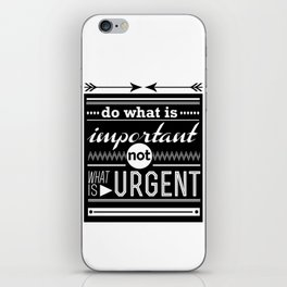importance iPhone Skin