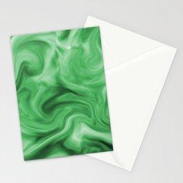 Emerald silk Stationery Cards