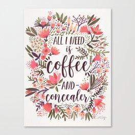 Coffee & Concealer – Vintage Palette Canvas Print