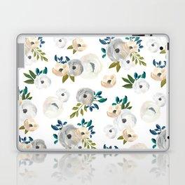 Sweet Blooms - Blue & Cream Laptop & iPad Skin