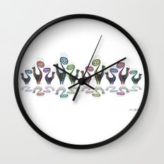 SNOOTY RAINBOW LINE DANCE Wall Clock