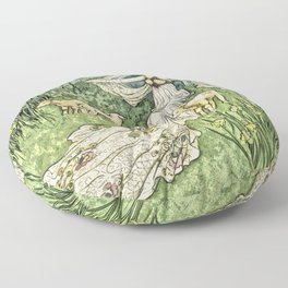 Fairy in the Meadow Floor Pillow