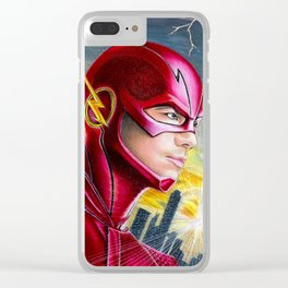 Barry Allan-THE FLASH Clear iPhone Case