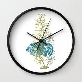 Seaweed Graphics Bright Cowfish Wall Clock